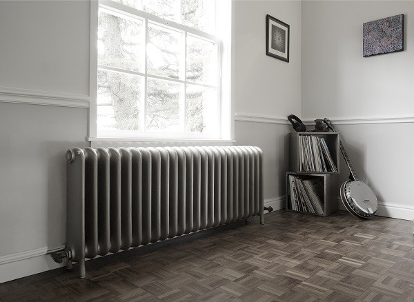 Reclaimed wide school radiator