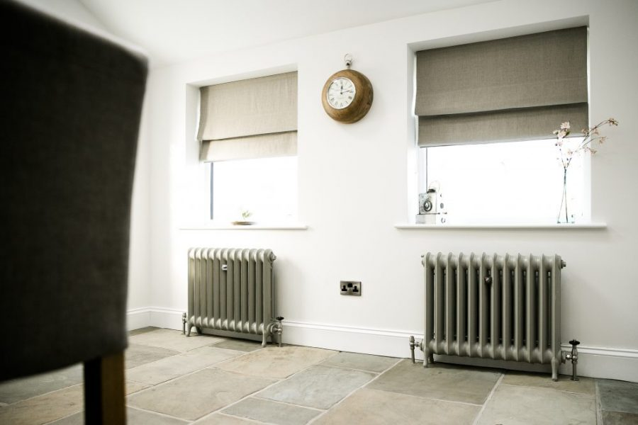 Duchess Reclaimed Cast Iron Radiators and Yorkstone Floor - Rock my Style