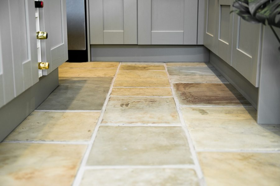 Reclaimed Yorkstone floor