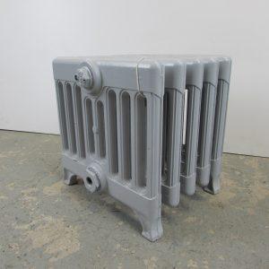 Reclaimed cast iron 9 column Victorian radiator; RR0141