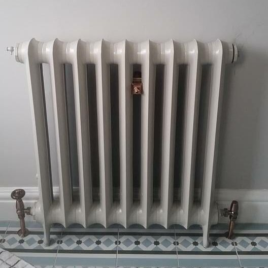 Duchess radiator in Beige Grey