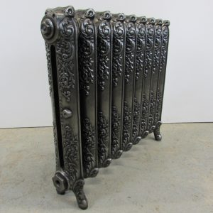 Reclaimed Ornate Rococo cast iron radiator; RR0263