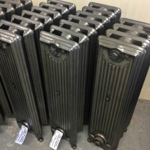 Rare reclaimed Churchill cast iron radiator; RR0267