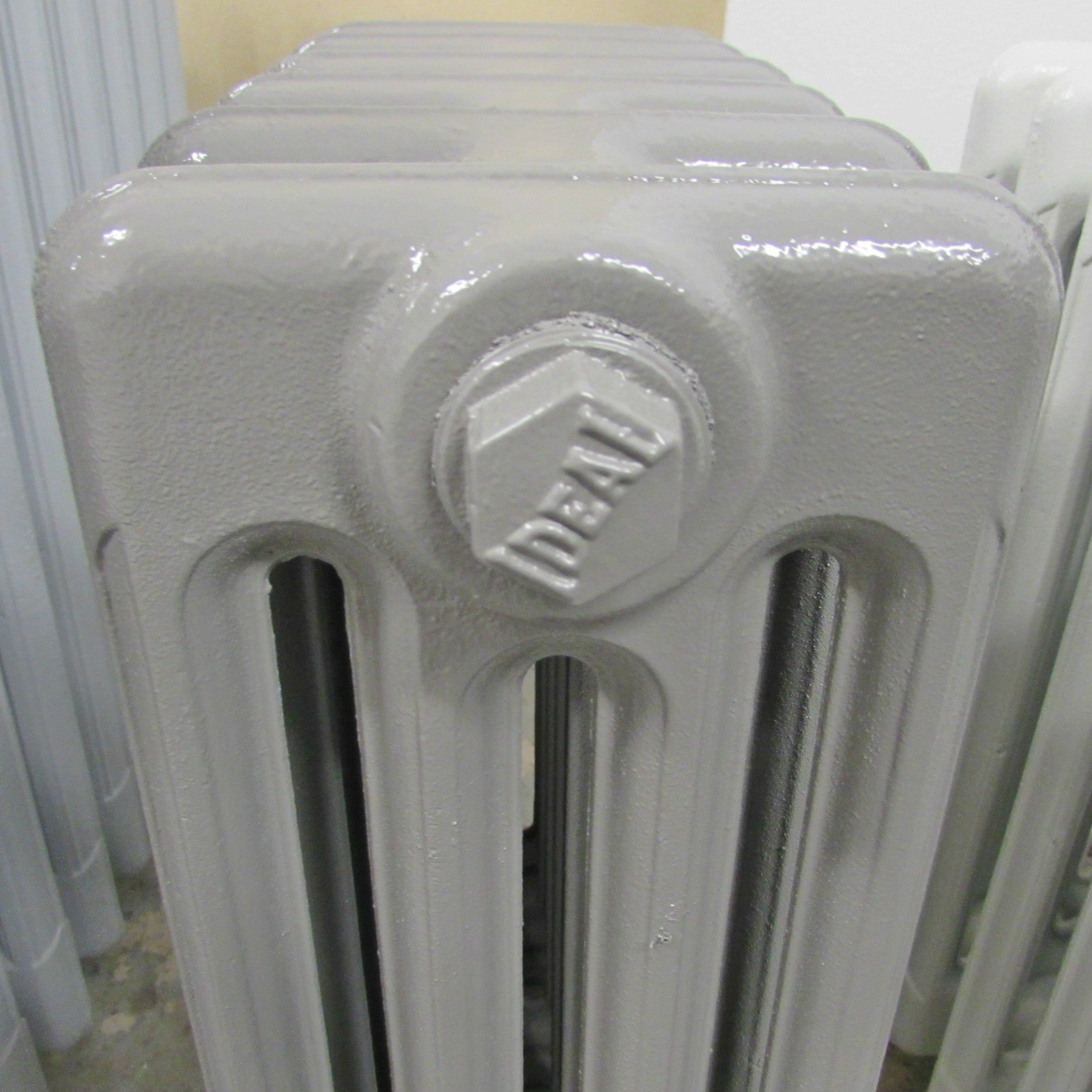 Fully restored grey cast iron radiator