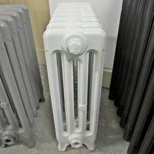 Reclaimed Victorian 4 Column Cast Iron Radiator; RR0276