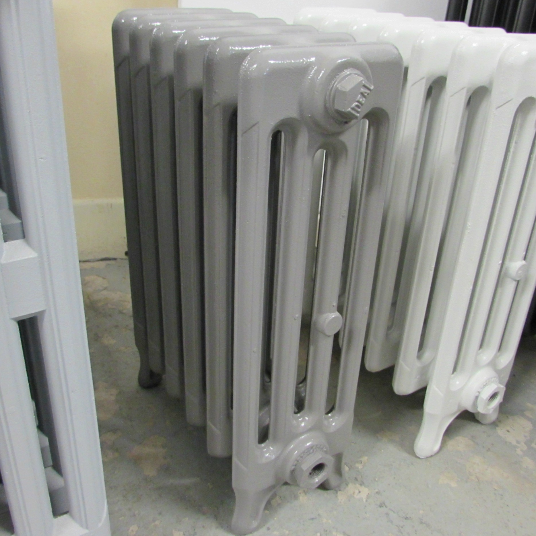 Reclaimed 4 column grey radiator