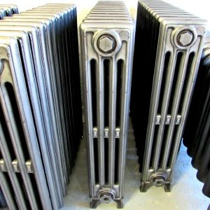 Reclaimed Victorian 4 Column Cast Iron Radiators; RR0264 (4 available)