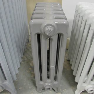 Reclaimed grey Victorian radiator