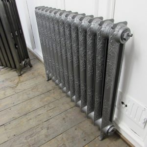 Reclaimed Ornate Rococo cast iron radiator; RR0289