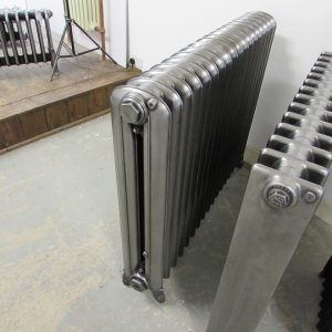 Reclaimed Princess Cast Iron Radiator with decorative feet; RR0306
