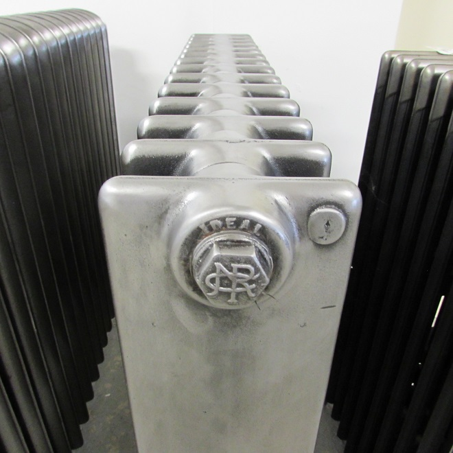 Fully restored square section cast iron radiator
