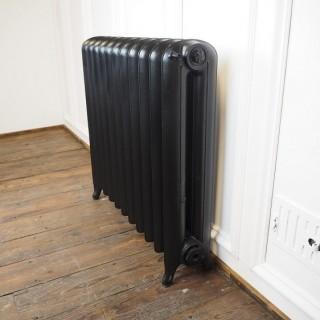 Reclaimed Princess cast iron radiator painted black