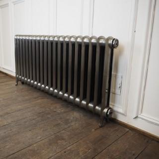 Reclaimed duchess style cast iron radiator hand burnished finish