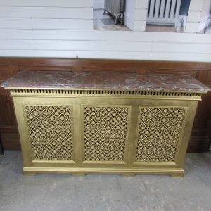 Victorian Cast Iron Radiator Cover Circa 1880; RR0266
