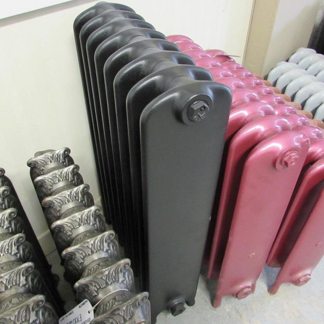 Black wide school reclaimed radiator