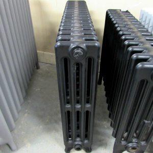 Reclaimed Victorian 4 Column Cast Iron Radiator; RR0273