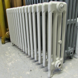Victorian radiator painted grey