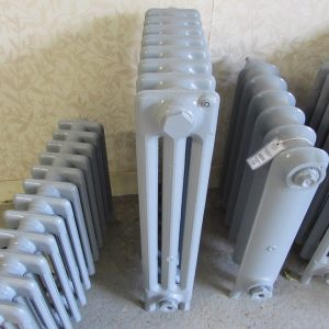 Reclaimed Victorian 3 Column Cast Iron Radiator; RR0313