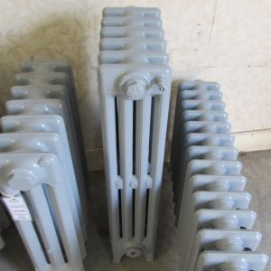 Reclaimed Victorian 4 Column Cast Iron Radiator; RR0315