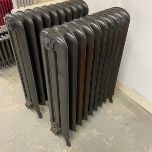 Reclaimed 3 column Princess Cast Iron Radiator; RR0327