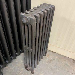 Reclaimed Victorian 4 Column Cast Iron Radiator; RR0317